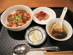 11麻婆丼定食500円@翡翠園