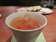 16鶏料理:梅酒@焼鳥・sumiyaki燈(炭焼きあかり)・丸太町・京都