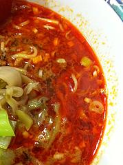 ランチ:坦々麺スープ@中華万里・長浜鮮魚市場会館・福岡