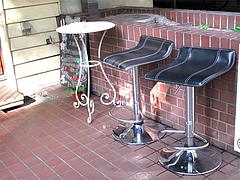 外観:外の喫煙スペース@五穀けやき通り店・福岡市中央区赤坂