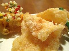 料理:おまかせコース4海老せんべい@博多一梅(ひとばい)