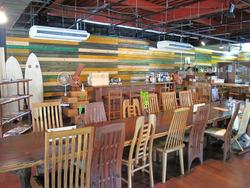 2店内:テーブル@いわい家具・ウッドスタイルカフェ