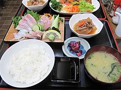 ランチ:刺身定食650円@味楽・大橋