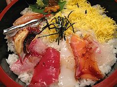 ランチ:海鮮丼タレかける@海鮮炉端・一手一つ・大橋