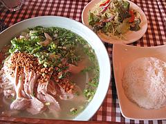 料理:タイ式ラーメン定食780円@カオサン・タイ料理・薬院