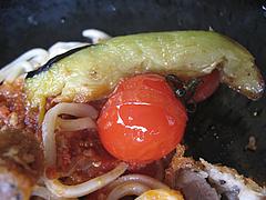 料理:とんかつ甘麺トマト風味の具@麺処・甘(かん)