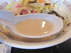 料理:長崎ちゃんぽんスープ@長崎ちゃんぽん・らーめん・一香軒・天神