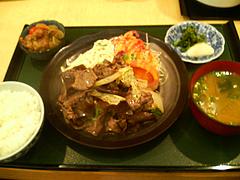 料理:牛肉と白菜の甘辛炒め定食@吾木香・舞鶴
