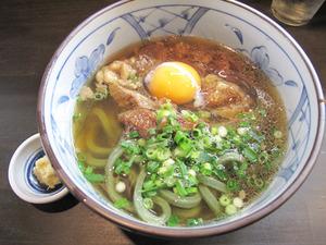 6よもぎ牛すじ肉うどん650円+玉子@よもぎうどん