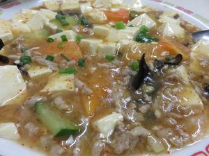 6麻婆豆腐定食がん見@万里長城