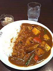 3ランチ:牛もつ野菜カレー830円@カレーハウスCoCo壱番屋(ココイチ)・中央区清川店