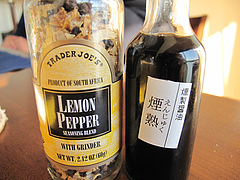 15レモンペッパー・燻製工房燻香(けむか)の醤油・煙熟@ワイン会