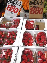 福岡あまおうイチゴ@年末の柳橋連合市場・福岡2010