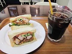 ランチ:オリジナルチキン430円とアイスコーヒー300円@サンドイッチファクトリーOCM(オーシーエム)・小倉