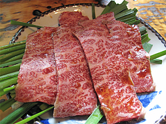 料理:黒毛牛炭焼1890円@地鶏炭火焼・佐土野家・湯布院(由布院)