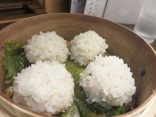 11肉団子の餅米蒸し