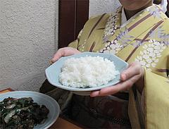 7ランチ:ニラレバ定食620円のご飯@中華料理・李華・六本松