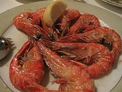 料理:エビのガーリック焼き900円@Los Pinchos(ロス ピンチョス)・博多区網場町