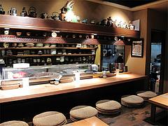店内:カウンター席@たらふくまんま・春吉