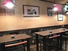 4店内:テーブル席@居酒屋・酒菜の店みき・大橋