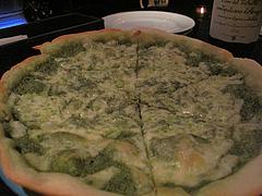 4バー:緑のバジリコピッツァ@ラカーサ・イタリアン・ワインバー