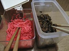料理:紅しょうがと辛子高菜@永楽ラーメン・小倉