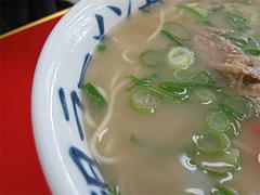 料理:ラーメン(脂)ナシスープ@元祖ラーメン長浜家・福岡