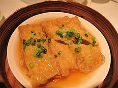料理(償猪傷レN竹巻):豚肉ときのこの湯葉包み蒸し@CHINA(チャイナ)・グランドハイアット福岡・キャナルシティ博多