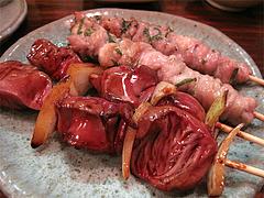 料理:とりきも136円・すきみ189円@やきとり処・博多こっこ家・春吉