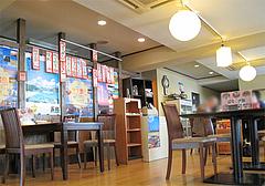 店内:テーブル席@あごだし麺・五島軒