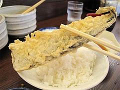料理:サンマの天ぷら150円@だるまの天ぷら定食・吉塚本店