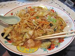 11ランチ:西新福寿飯店式皿うどん量@中華・華風・福壽飯店・大名