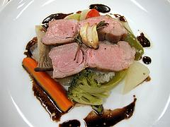 料理:豚肩ロース肉のロースト・ローズマリー風味@フレンチ・シェ サンアン・早良区石釜