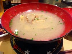 18あさり汁@唐戸市場寿司