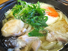 9ランチ:鍋焼うどんアップ@因幡うどん・渡辺通店