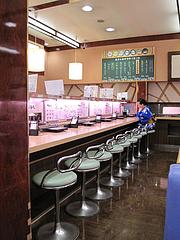 店内:カウンター席@回転寿