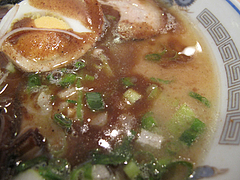 料理:ぶしラーメンスープ@ラーメン一龍・小倉