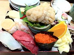 料理:ランチのすし定食表@鮨あつ賀・福岡