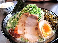 ランチ:緑豚骨ラーメン@拉麺・空海・那珂川本店