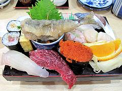 料理:すし定食のにぎり1@ランチ・鮨あつ賀