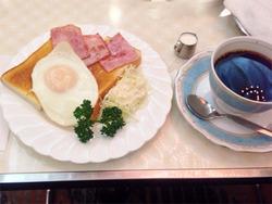 8ハムエッグトースト750円@純喫茶アメリカン