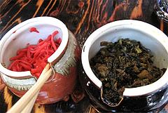 料理:紅しょうがと辛子高菜@浜太郎・長浜屋台村