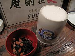 4夜:生ビール大とひじき@居酒屋・庵酎無作・博多駅