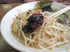 料理:食べるラー油ともやし@ラーメンつる家・那珂川