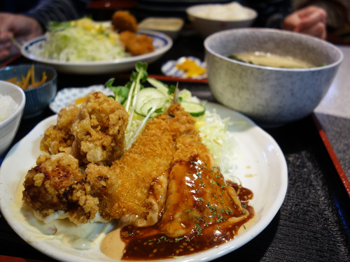 【福岡】揚げ物パラダイス!天神ビブレの定食堂♪@揚げ物料理 彩