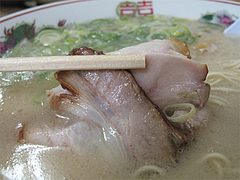 9ランチ:豚骨ラーメンチャーシュー@長浜ラーメン・よつば屋・西新