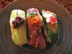 料理:糸島姫鮨アップ@僧伽小野・糸島
