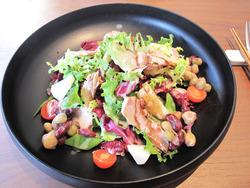 14スモークチキンと豆のサラダ@白金茶房・白金酒店