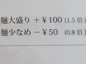 4麺少なめ@茶ぶ釜
