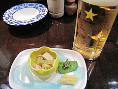 3居酒屋:お通し@焼鳥・藤よし・西中洲